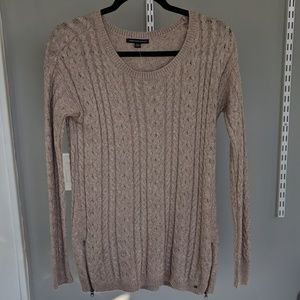 AEO Beige Cable Knit Sweater